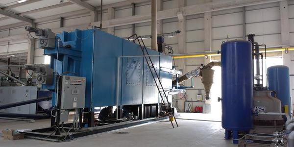 Thermolisys plant: 1,7 g/h with municipal solid waste (MSW) 3,9 g/h with plastic.