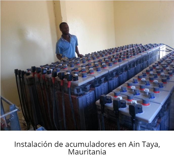 Instalación de acumuladores en Ain Taya, Mauritania