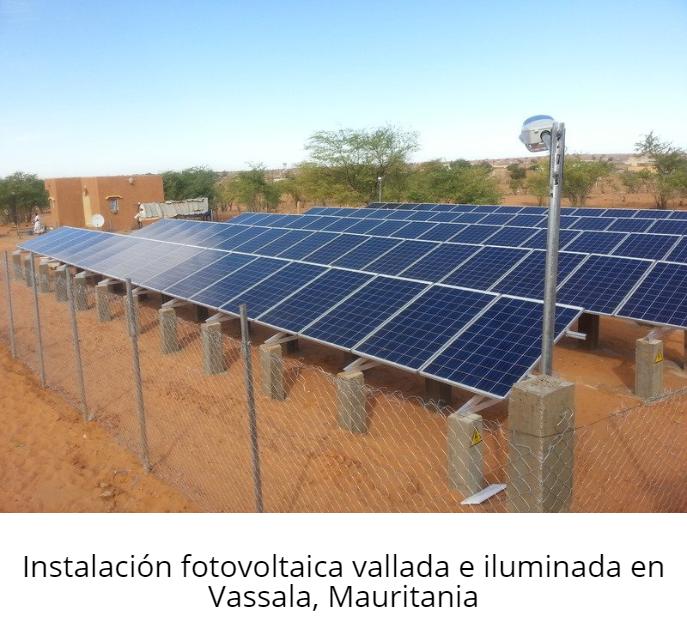 Instalación fotovoltaica vallada e iluminada en Vassala, Mauritania