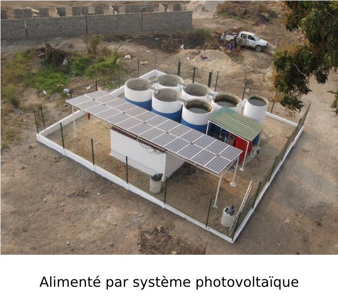 Alimenté par système photovoltaïque