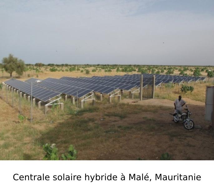 Centrale solaire hybride à Malé, Mauritanie