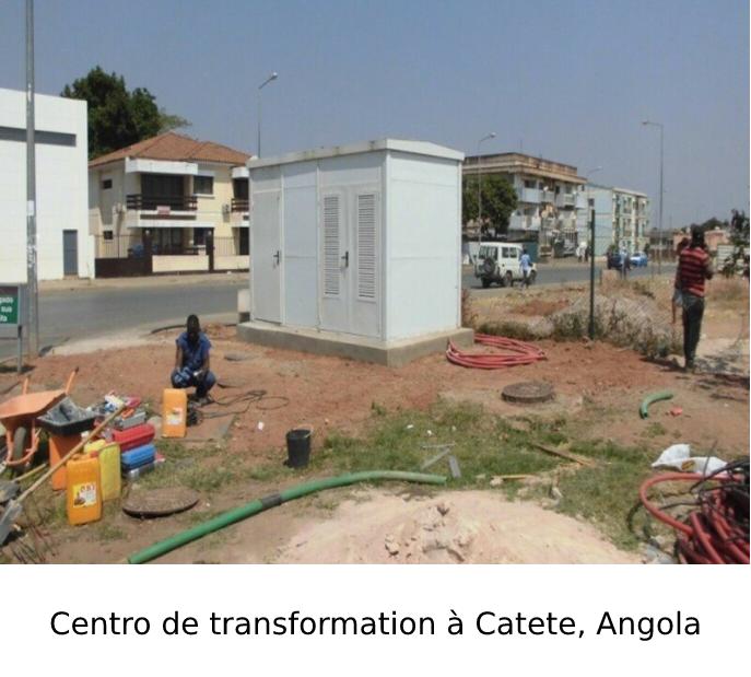 Centre de transformation à Catete, Angola
