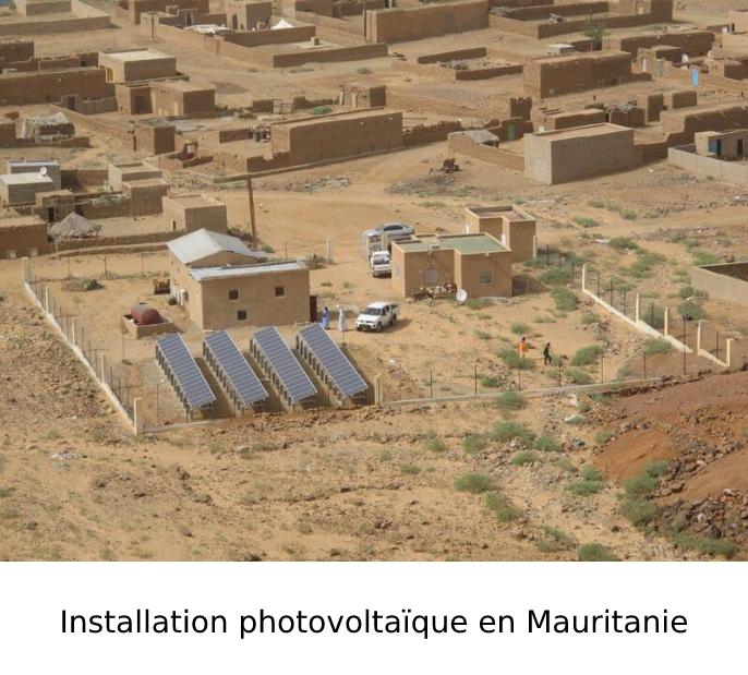 Installation photovoltaïque en Mauritanie