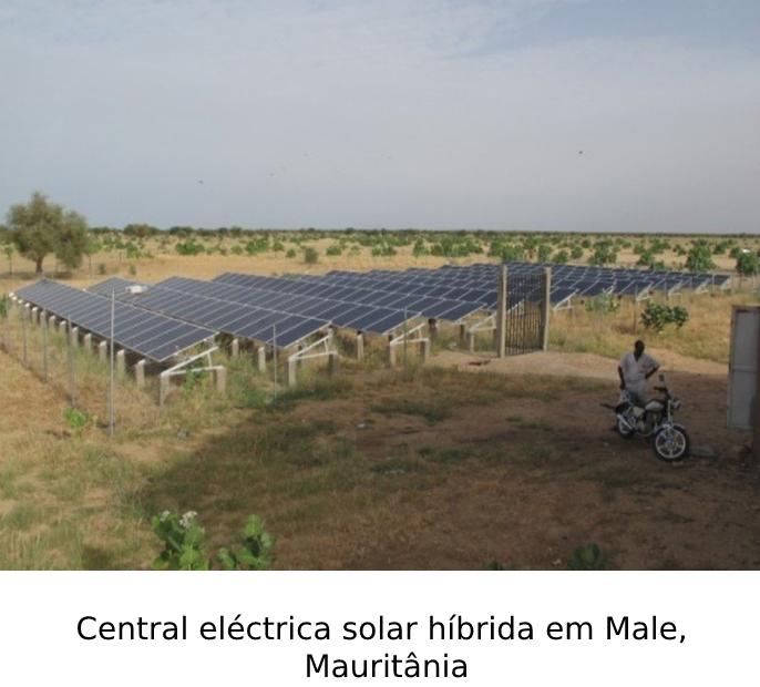 Central eléctrica solar híbrida em Male, Mauritânia