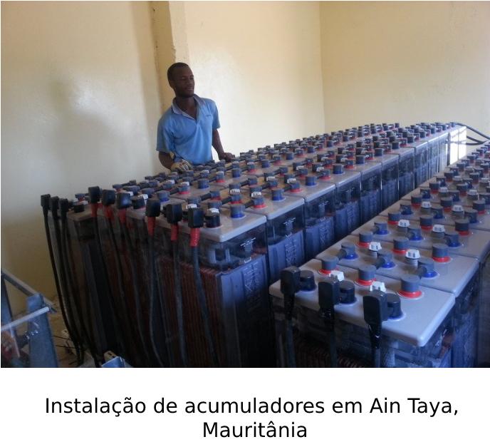 Instalação de acumuladores em Ain Taya, Mauritânia