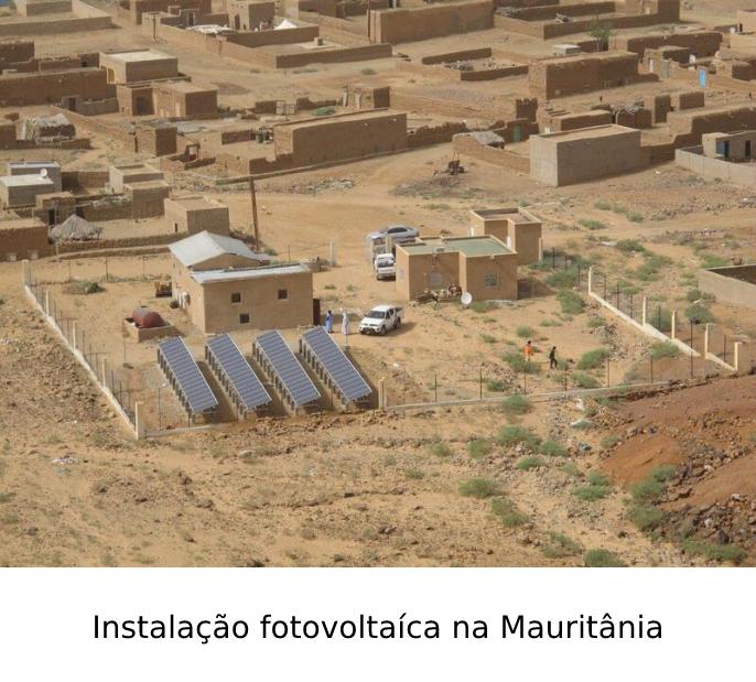 Instalação fotovoltaíca na Mauritânia