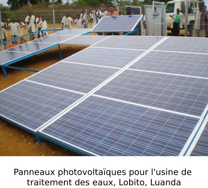 Painéis fotovoltaicos para abastecimento da estação de tratamento de água do Fazil, Lobito, Luanda